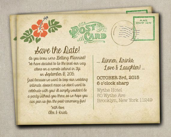 Erin 75 Save The Date Postcards Wedding By Saedesignstudio