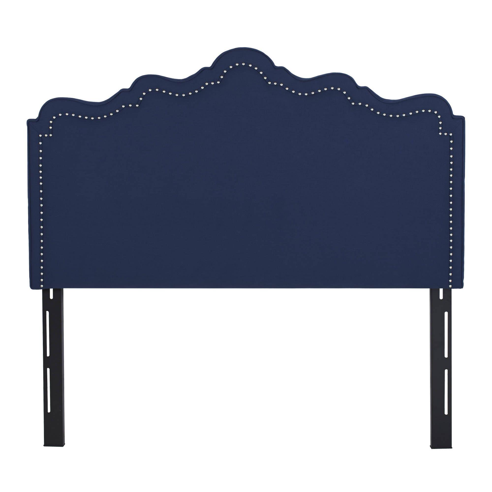 AuBergewohnlich Jennifer Taylor Ela Upholstered Headboard (Blue   Blue Finish   Queen/Full)