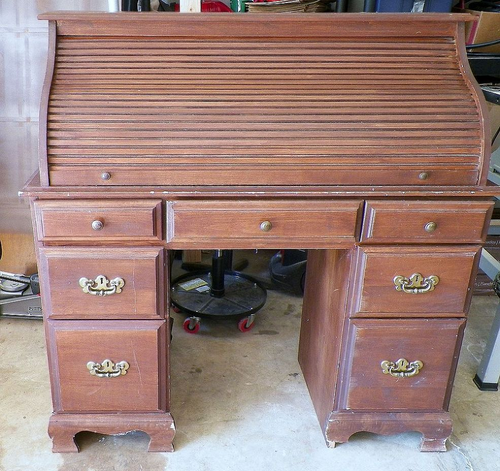 Bring New Life To An Old Roll Top Desk Roll Top Desk Desk Redo Desk Makeover