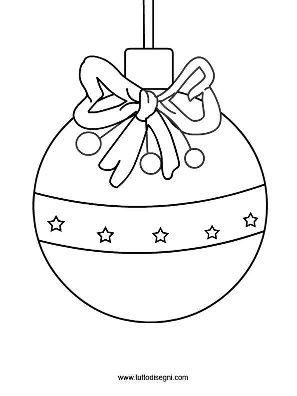 Disegno pallina albero di natale for Immagini angeli da colorare