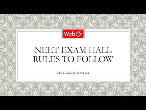 Neet exam hall rules to follow neet 2017 success tips videos neet exam hall rules to follow neet 2017 fandeluxe Gallery