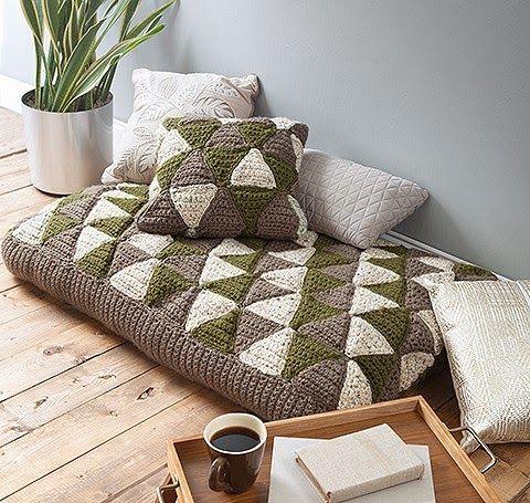 How to Crochet Poufs, Floor Pillows, and Ottomans   Floor pillows ...