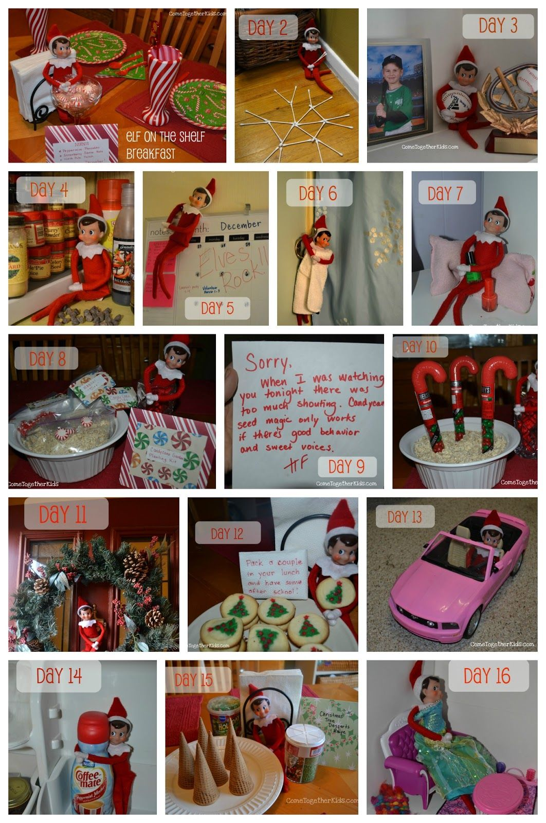 Come Together Kids: Elf on the Shelf Ideas