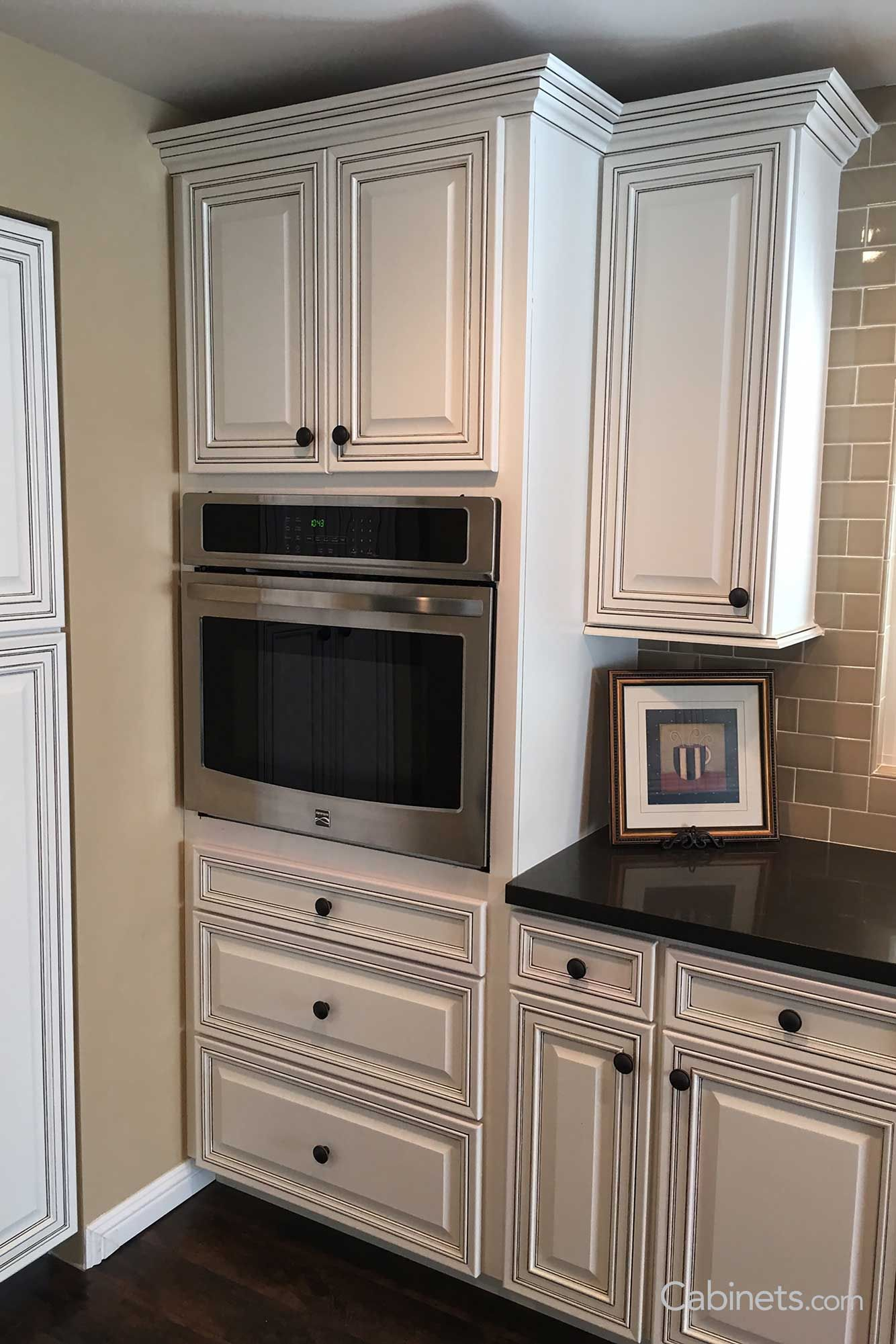 Bronson Maple Bright White Chocolate Glaze Glazed Kitchen Cabinets Kitchen Remodel Kitchen Decor