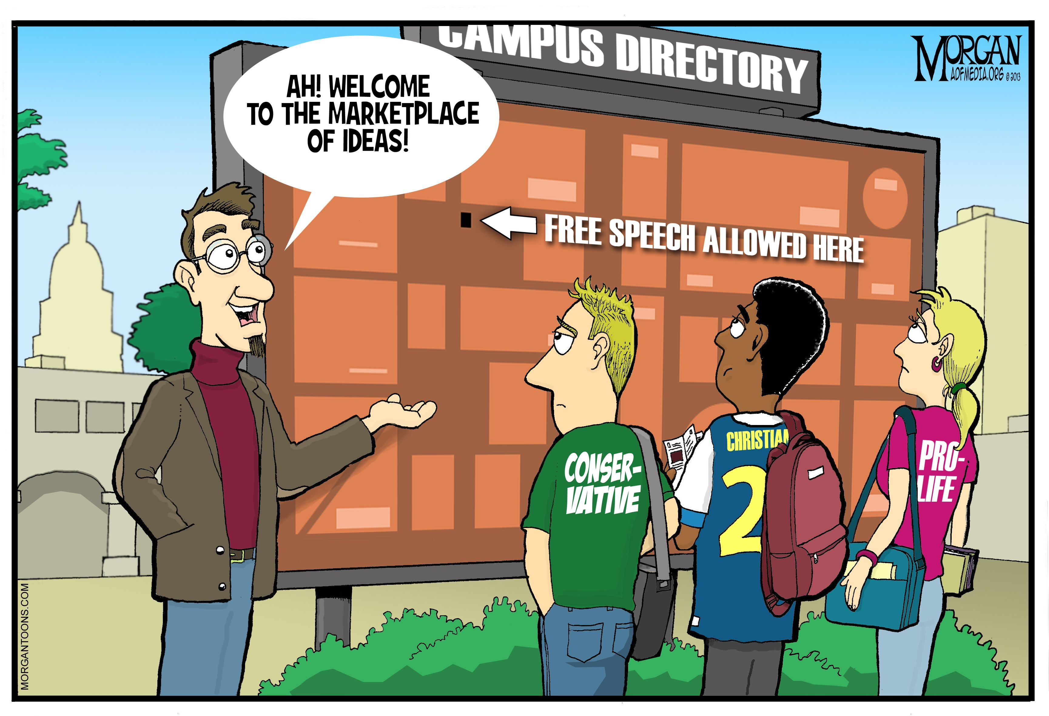 Image result for editorial cartoon, snowflakes on campus