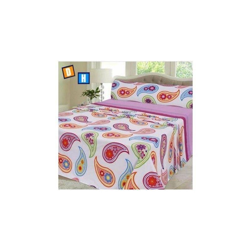 Juego de sábanas dibujos colores, ahora vas a poder ofrecer a la cama de tu habitación una bonita decoración floral.