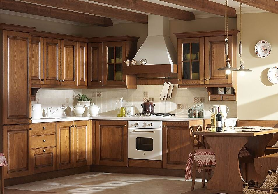 American Ash Solid Wood Kitchen Cabinet House Kitchen