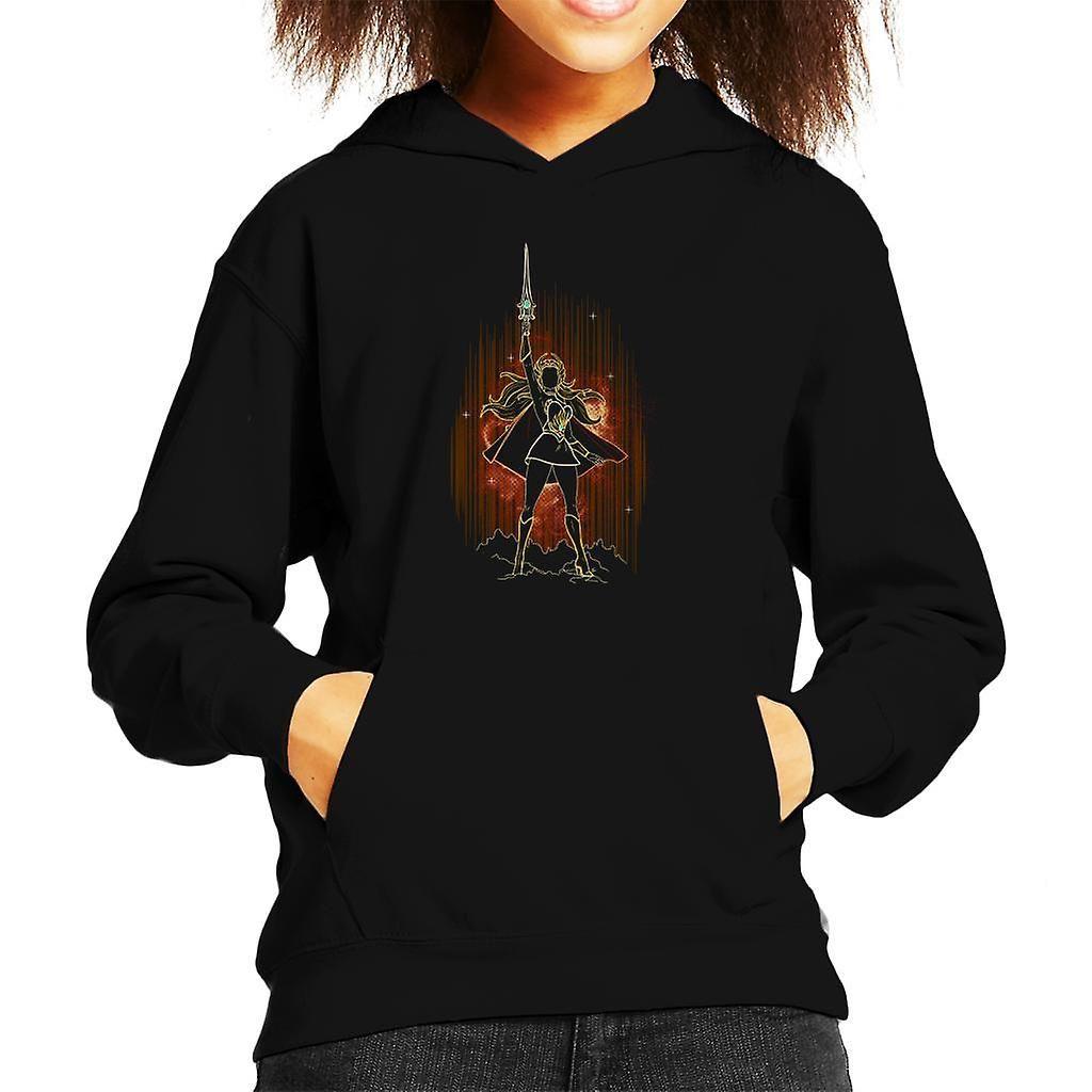Masters Of The Universe Shadow Of She Ra Kid's Hooded Sweatshirt Black-Medium (7-8 yrs)