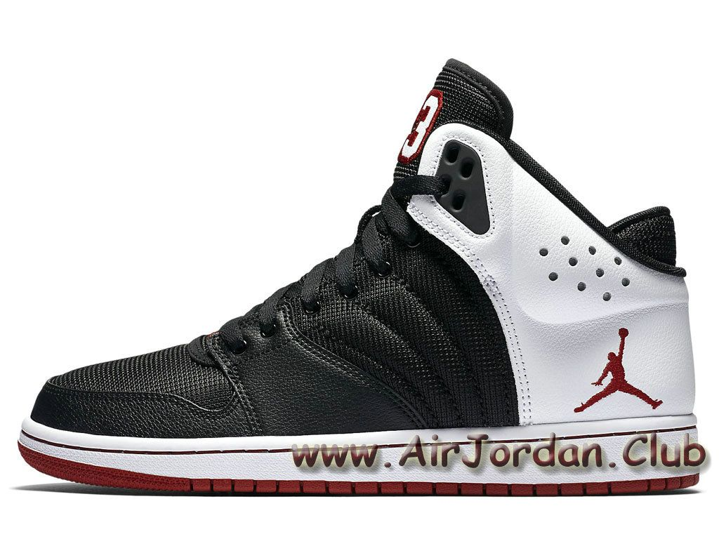 uk availability 36d9c 7929e Chaussures Jordan 1 Flight 4 noires Blanc 820135 001 Officiel nike Jordan  Pour Homme - 1705280391