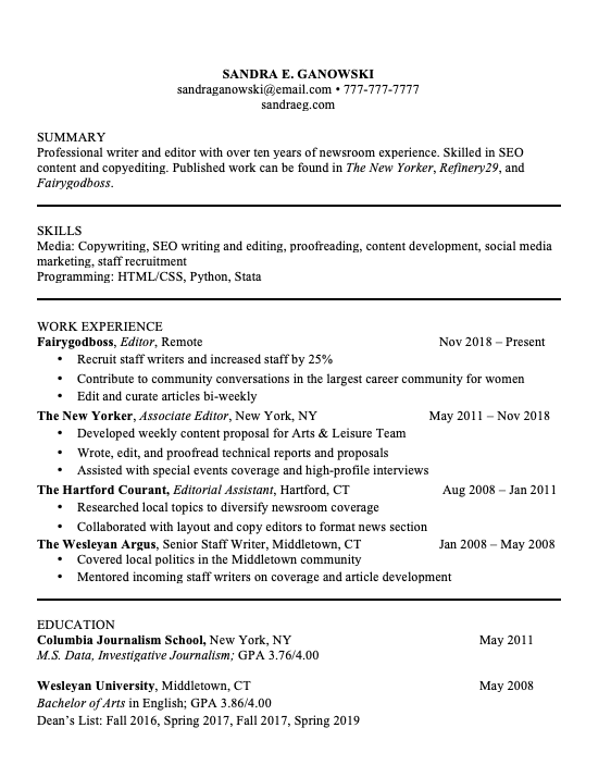 7 Things You Ll Find On All Perfectly Formatted Resumes In 2020 Resume Design Template Marketing Resume Resume Design Free