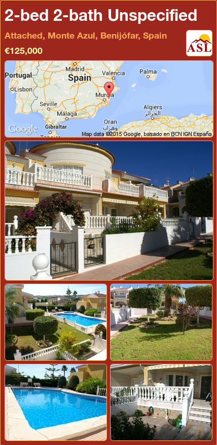 Unspecified For Sale In Monte Azul Benijofar Alicante Spain With 2 Bedrooms 2 Bathrooms A Spanish Life Espana Spain Malaga