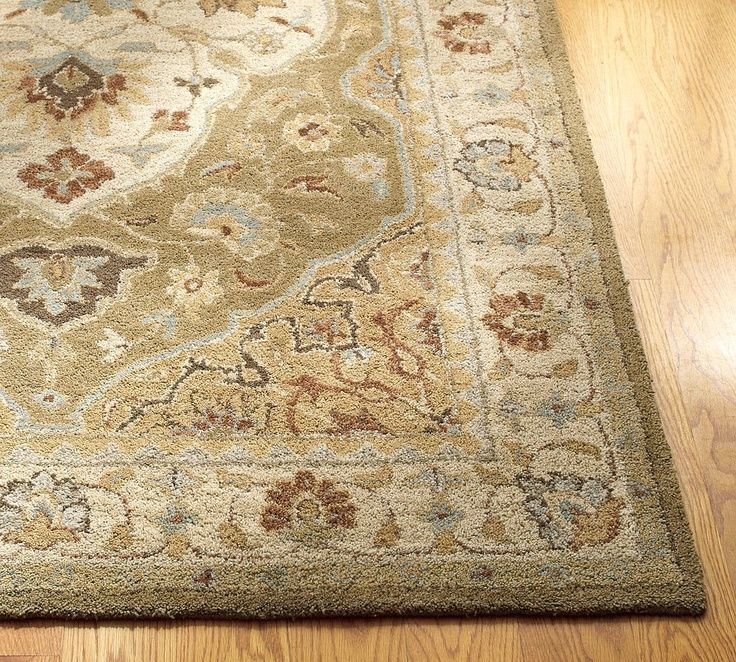 New Pottery Barn Handmade Persian Hayden Area Rug 5x8 With Images