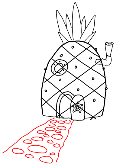 Spongebob House Drawing : spongebob, house, drawing, Drawing