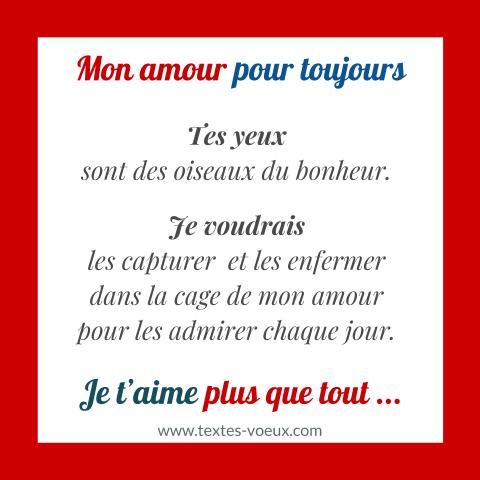 Poème Je Taime Mon Amour Messages Amoureux Message De