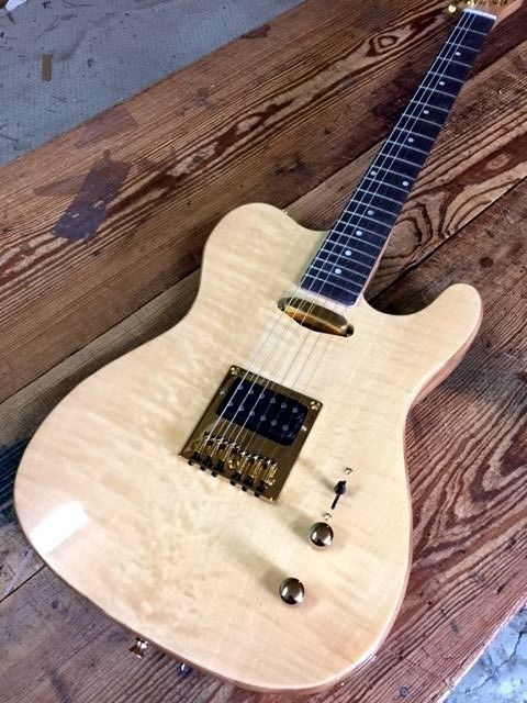 Guitar New Exotic Wood Flame Maple Top Pro Tele 6 String