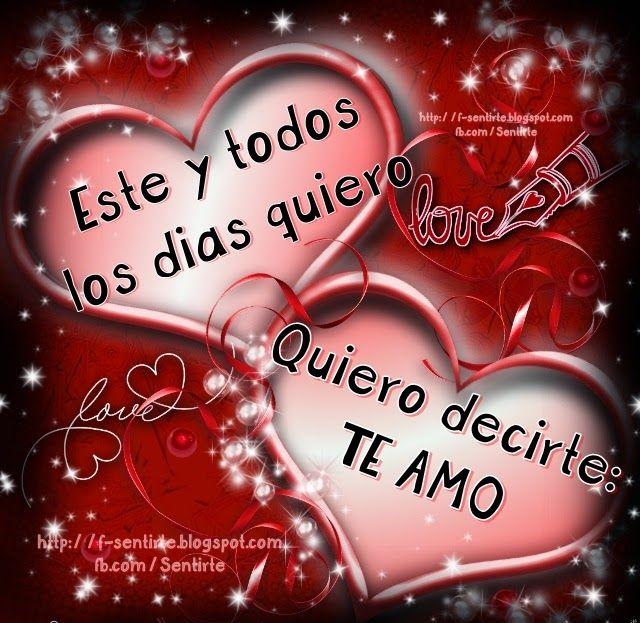 Amor Mio ღεїз Postales Te Amo Para Dedicar Imagenes