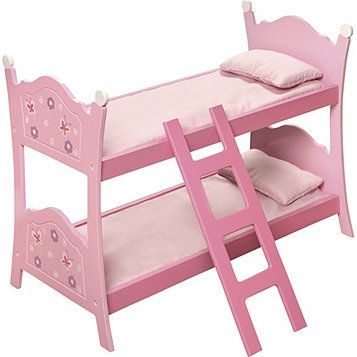 Badger Basket Company Blossoms Doll Bunk Bed Doll Bunk Beds