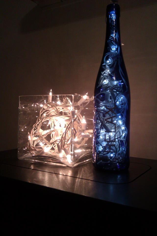 Use Ordinary Christmas Lights In Vases Bottles Etc Fairy Light