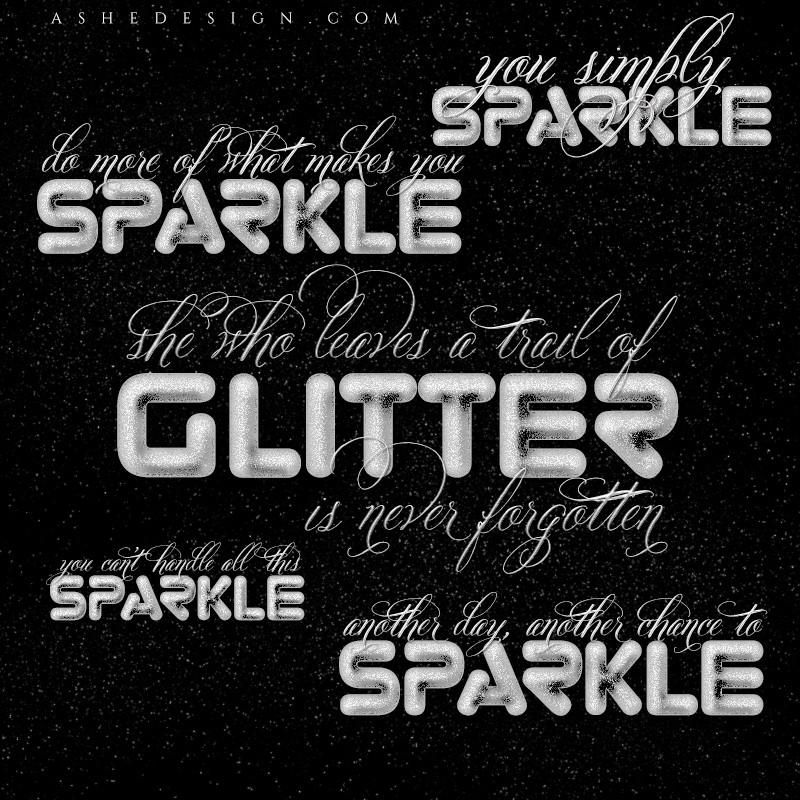 Amped Up Word Art Set - All That Glitters