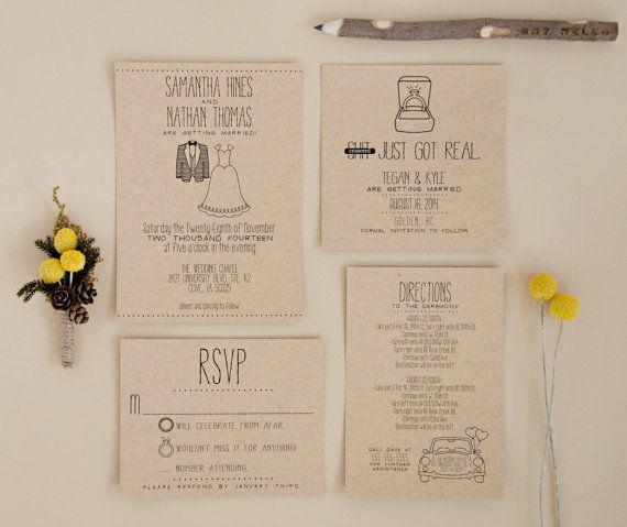 Custom Wedding Invitation Suite DEPOSIT by SplashOfSilver on Etsy
