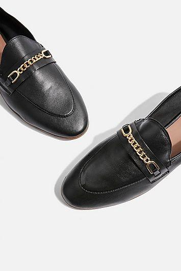 5a5fc159b58 Womens Key Trim Loafers - Black