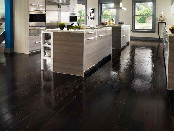 Black Wood Floor Paint For Kitchen Flooring Ideas Floor Design Trends Hardwood Floors Dark Dark Laminate Wood Flooring Wood Floor Design