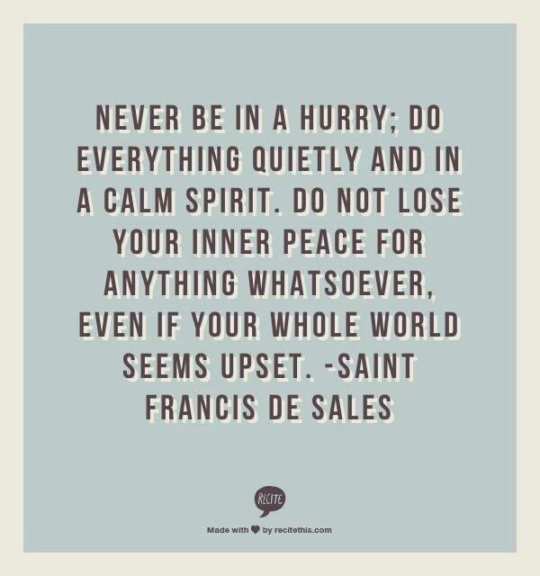 Need to remember this... Always feel like I haven't a moment to spare... Need to slow down!