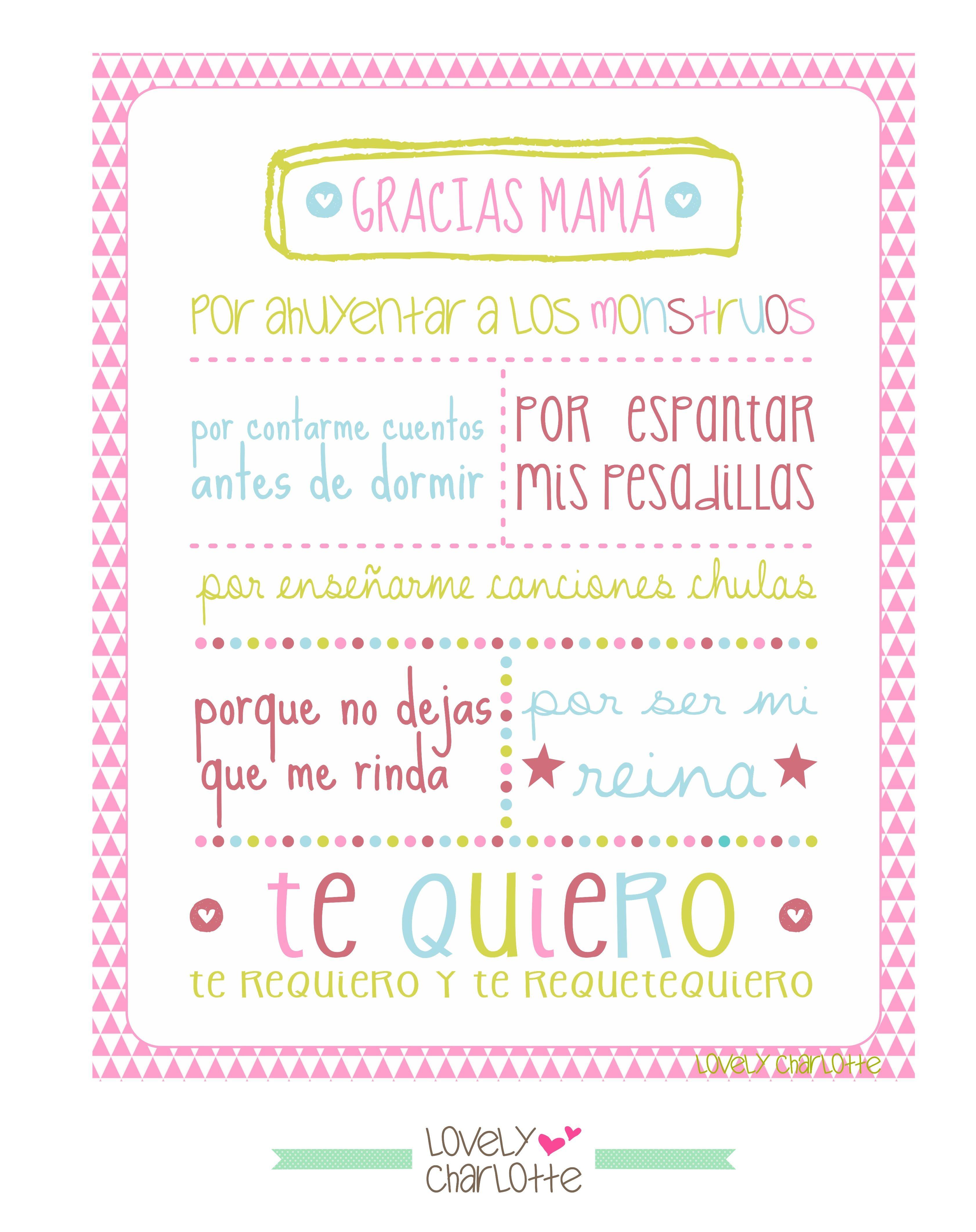 Se acerca mayo el mes de la madre en el mundo por eso os dejo algunas ideas para felicitar a las mamás el pr³ximo da o estos imprimibles