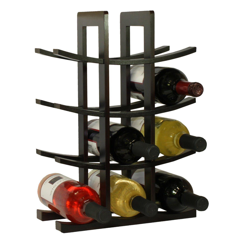 Amazon Com Oceanstar Wr1132 12 Bottle Dark Espresso Bamboo Wine Rack Home Kitchen Wine Bottle Glass Holder Wine Rack Wooden Wine Rack