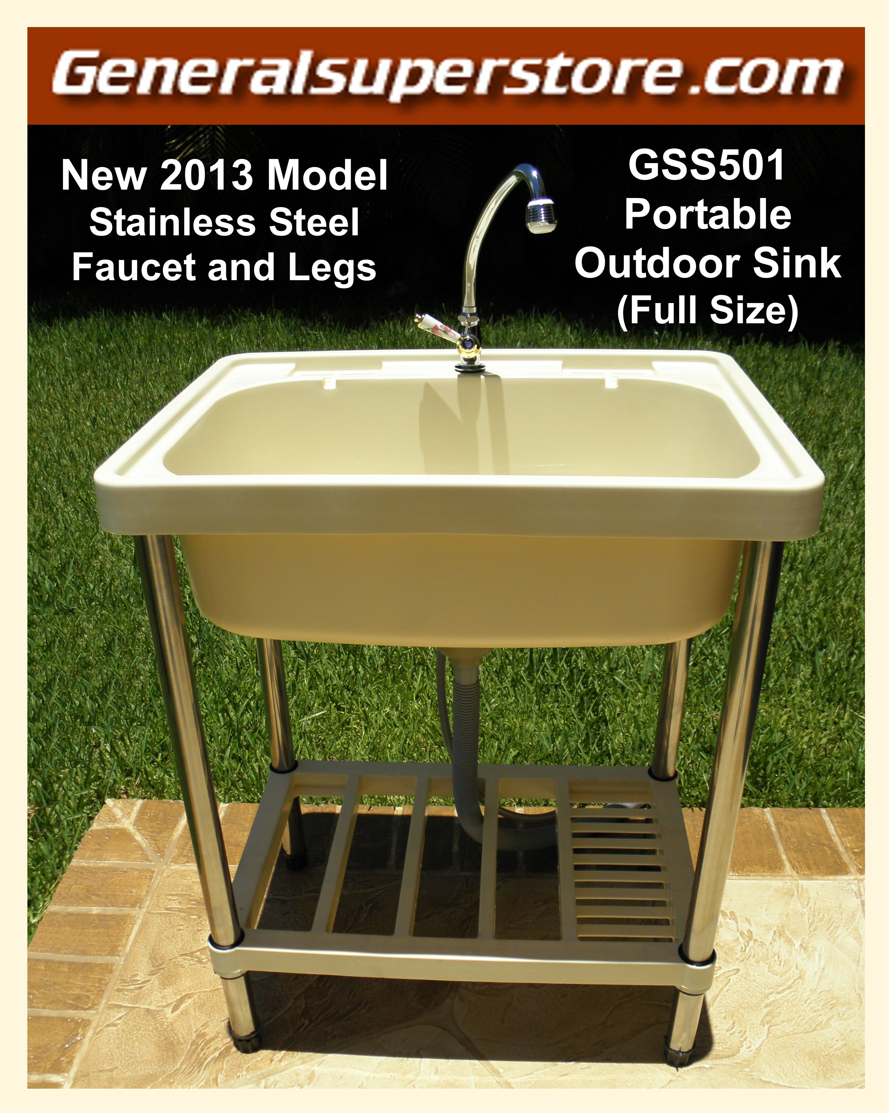 New 2013 Model With Stainless Steel Legs With Images Outdoor Sinks Kitchen Water Faucet Simple Kitchen Remodel