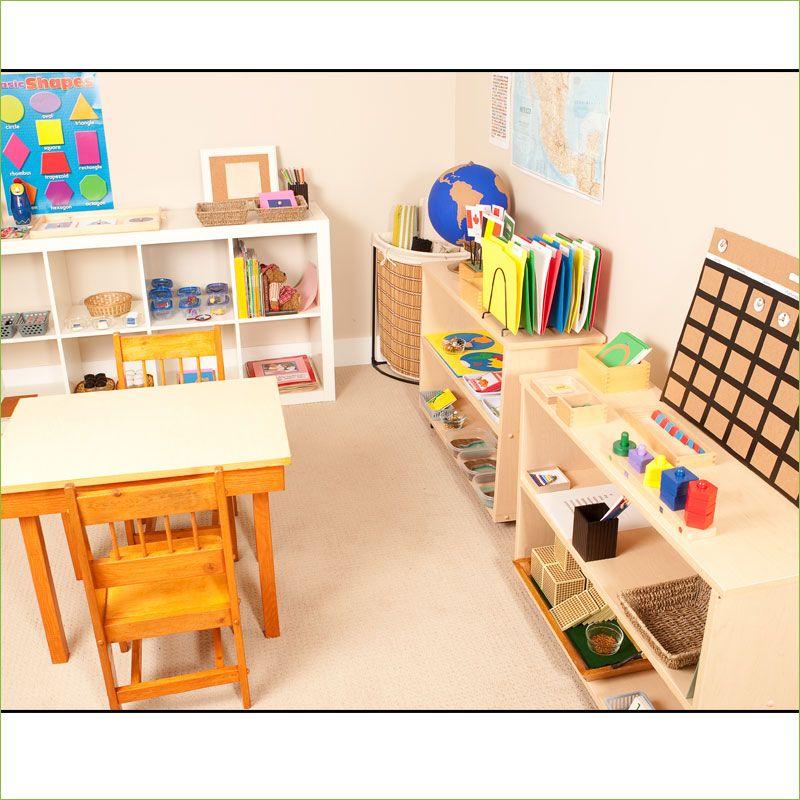 Minimalist Homeschool Room: Teach Montessori At Home, Montessori Homeschool Program