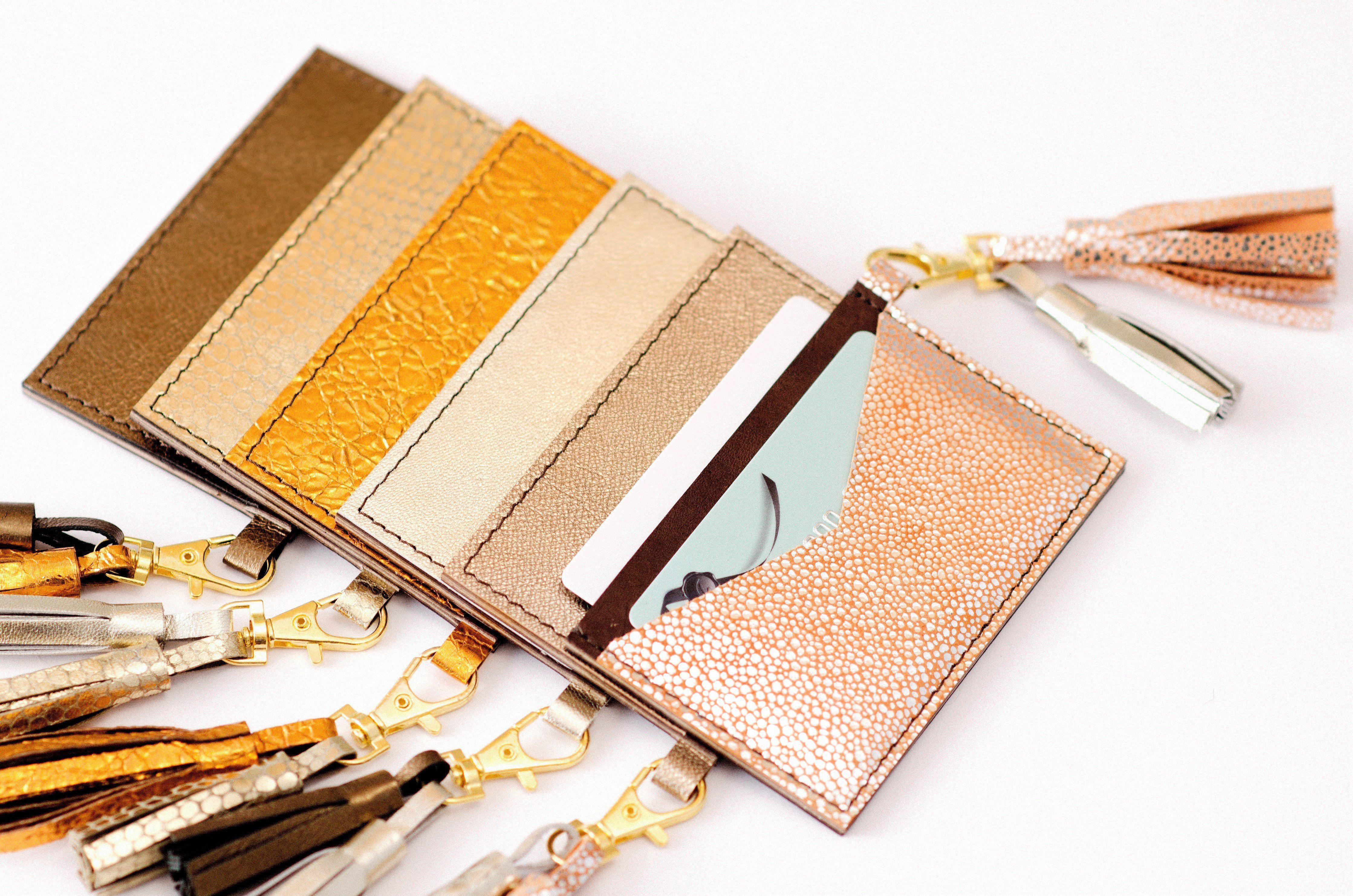 Business Card Holder For Women With Detachable Tassel 2 Slot