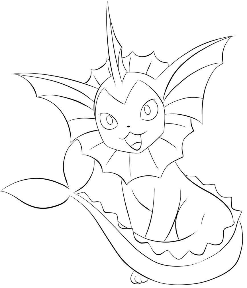 Pokemon Vaporeon Drawing Pokemon Coloring Pages Pokemon Sketch Pokemon Coloring