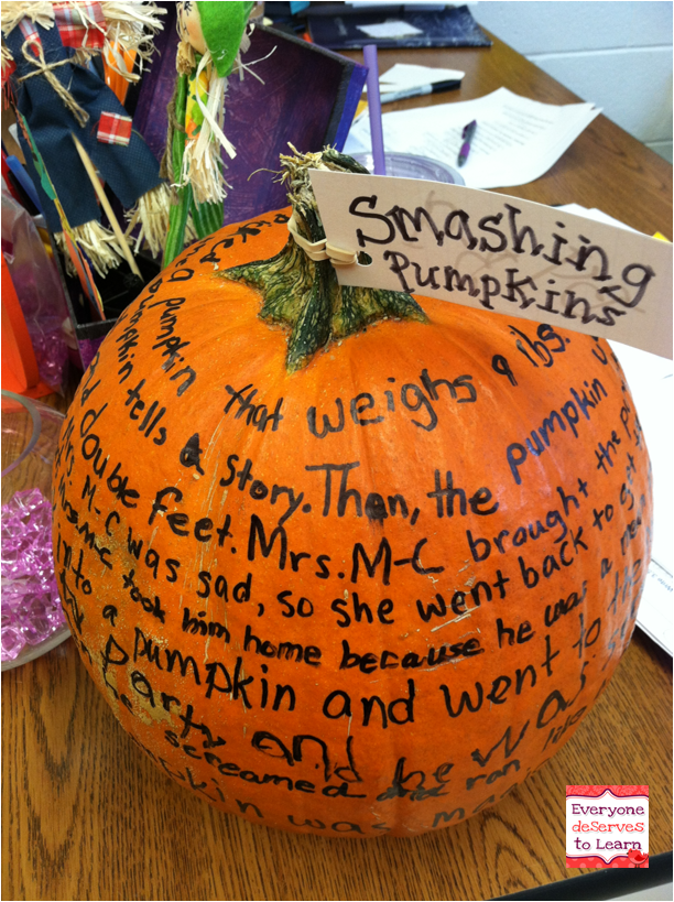 Smashing Pumpkins- a Language Experience Approach Activity   Kind