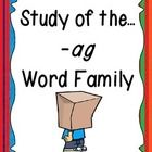 his unit provides plenty of fun, learning centered around the -ag word family! Students will have plenty of practice learning new words, writing th... #teachers #tpt