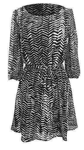 Peach Couture® Retro Zig Zag Pattern Fall Fashion ¾ Sleeve Shift Dress (XL, Black/Grey) Peach Couture http://www.amazon.com/dp/B00N174YOM/ref=cm_sw_r_pi_dp_gaWgub1HJT1BE