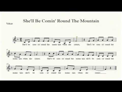 She Ll Be Coming Round The Mountain Free Children S Sheet Music