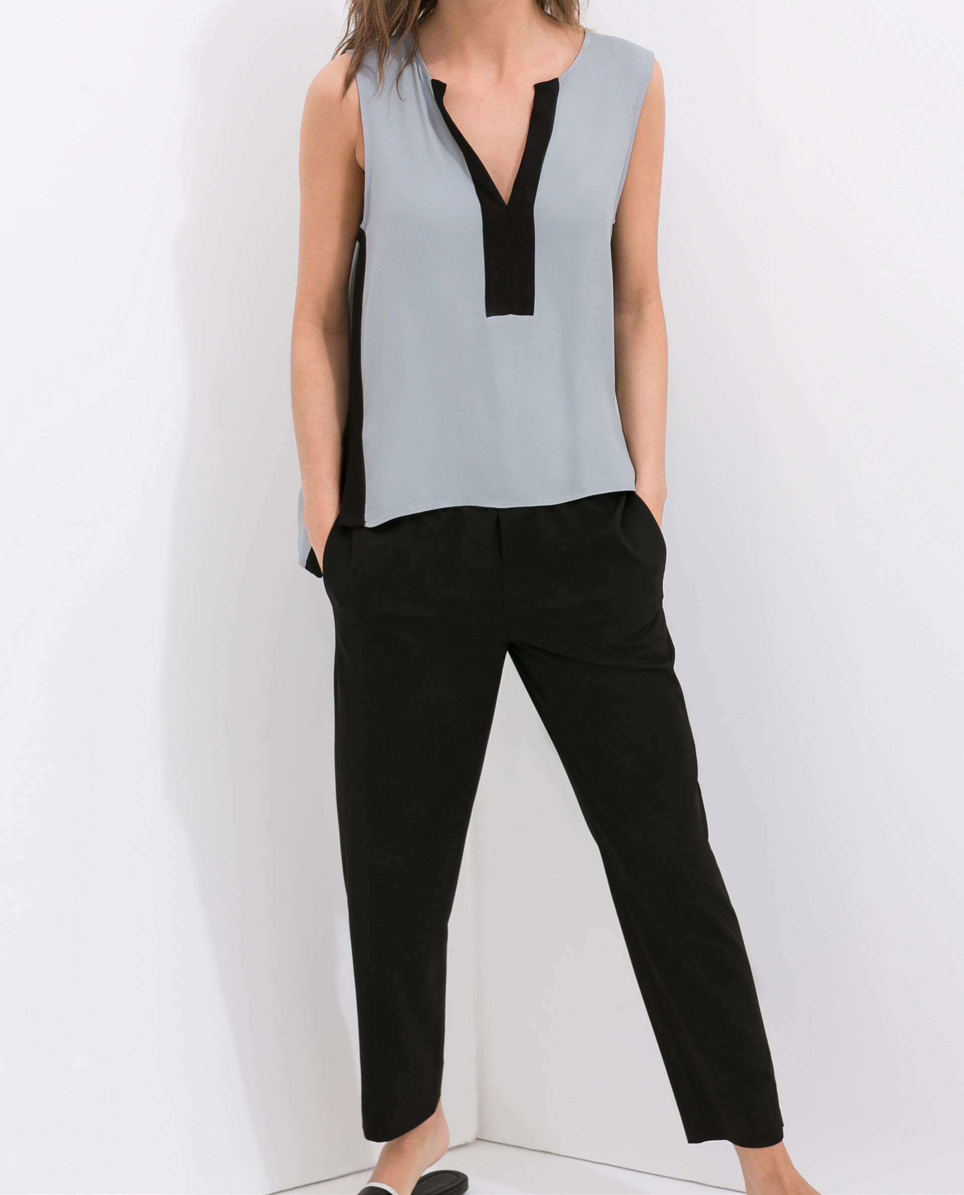 2cc37b808b73a TROUSERS WITH ELASTIC WAIST - Trousers - WOMAN