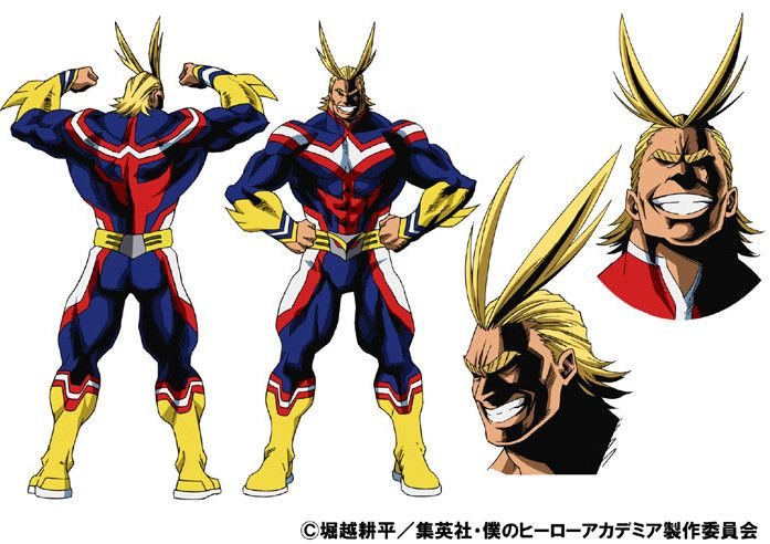 Resultado de imagen de personajes boku no hero academia all might