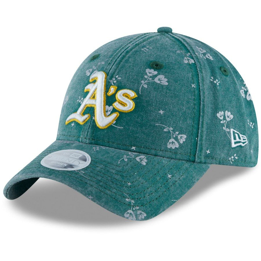 innovative design d4ec3 5a299 Women s Oakland Athletics New Era Green Floral Shine 9TWENTY Adjustable Hat,  Your Price   23.99