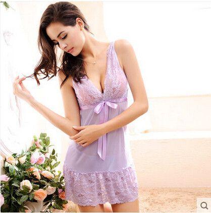 a68f73ec2 S-2XL Plus size nightgown sexy Night Gown Night Sleep Dress Womens  Sleepwear sexy sleepwear 956