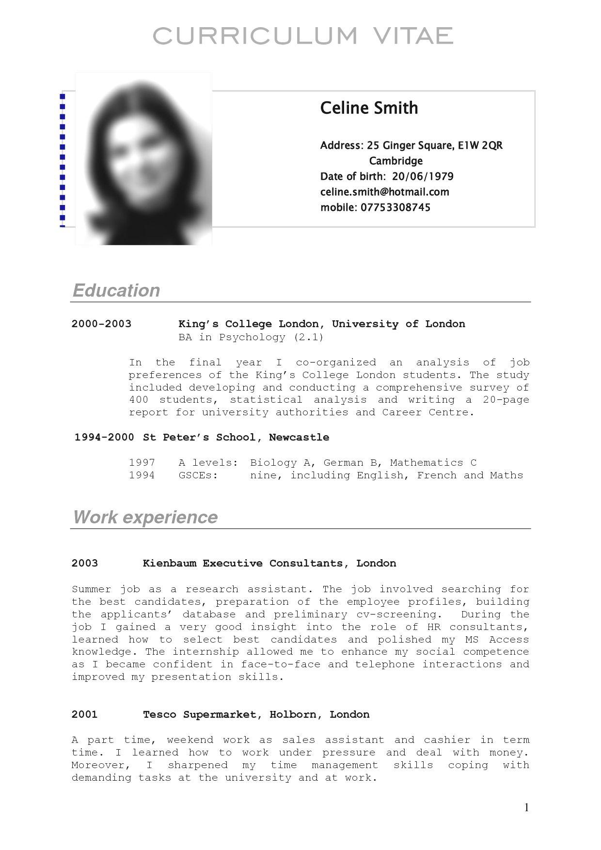 resume format germany    format  germany  resume