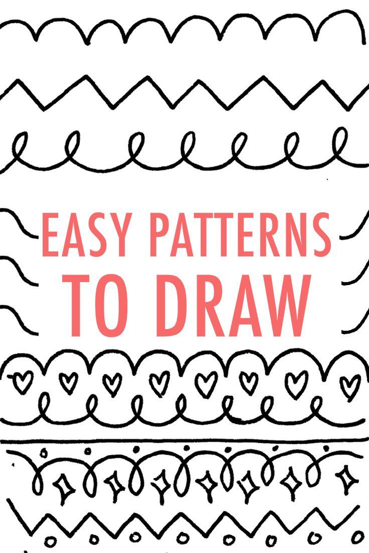 Easy Drawing Designs Patterns For Kids Valoblogi Com