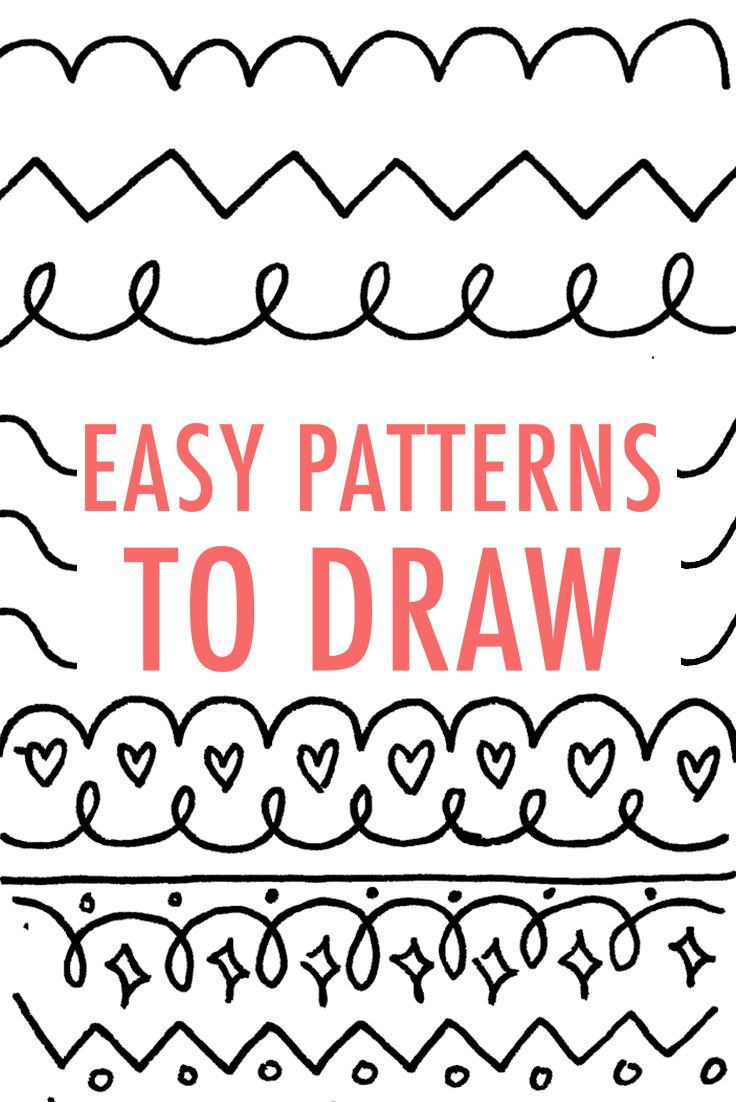 Easy Patterns To Draw Design Your Own Pattern Pinterest Easy Patterns Simple Shapes And Shapes