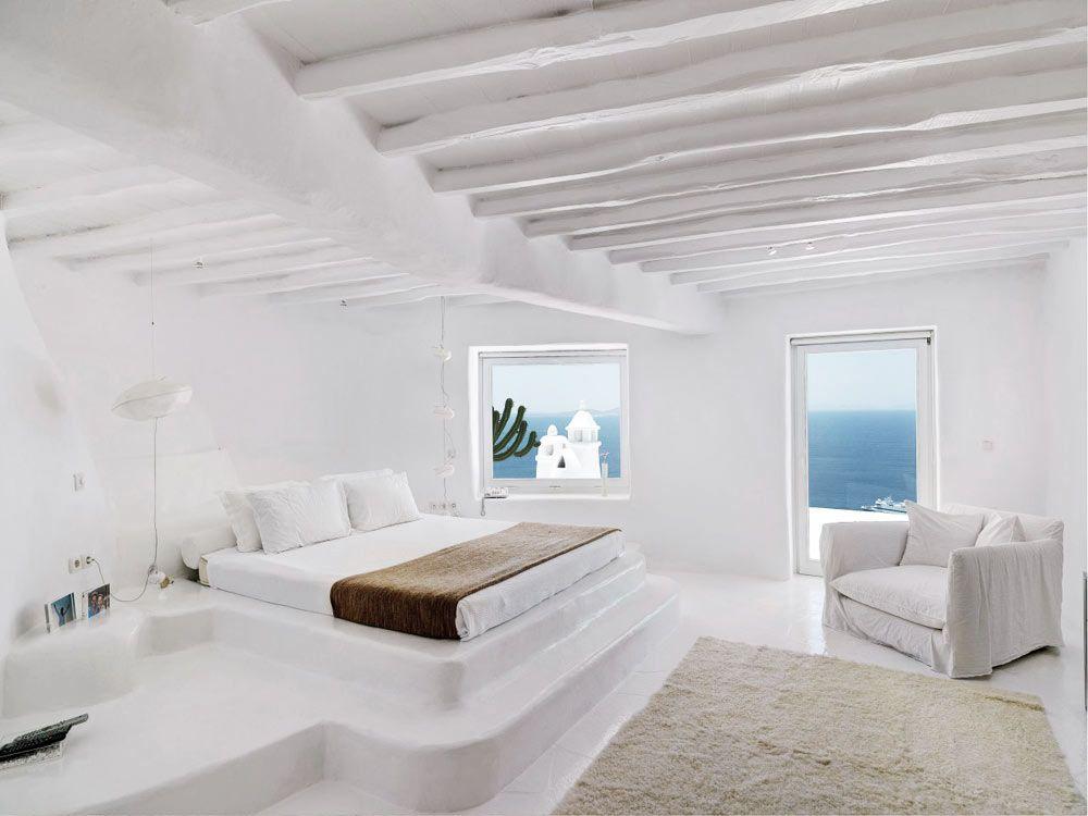 Pin di norman romero su casas playa stanza da letto for Arredamento greco