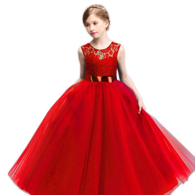 7bff3bc07 Cheap Cordón de La Princesa Vestidos para Niñas Ropa Traje de Los ...