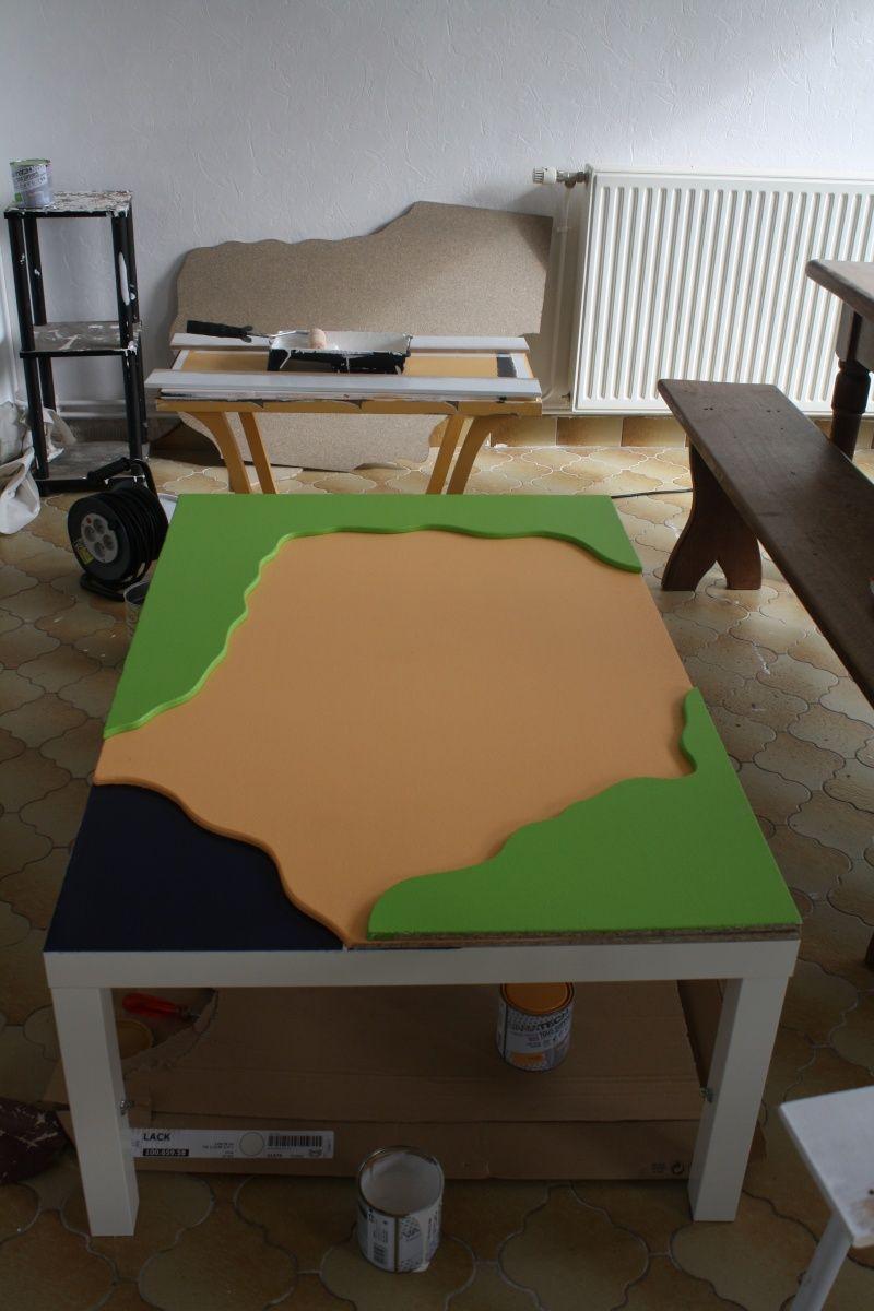 une table de jeu playmobil avec lack en 2018 diy pinterest jeux playmobil table de jeux. Black Bedroom Furniture Sets. Home Design Ideas