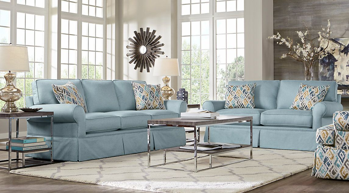 Affordable Fabric Living Room Sets   Rooms To Go Furniture (IDK About The  Blue)