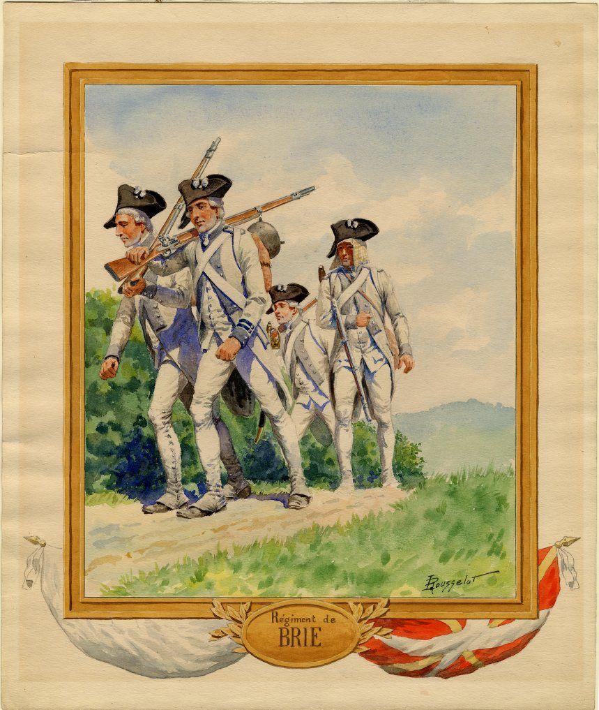 SYW- France: RÉGIMENT DE BRIE 1756, by Lucien Rousselot.