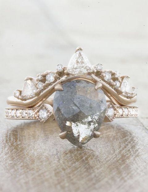A One Of Kind Engagement Ring Featuring Pear Shaped